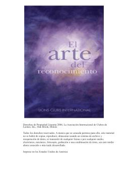 Arte del reconocimiento - Lions Clubs International