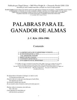 PALABRAS PARA EL GANADOR DE ALMAS