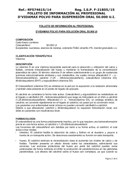 FOLLETO DE INFORMACIÓN AL PROFESIONAL