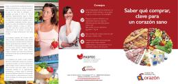 folleto fec verduras - Fundación Española del Corazón