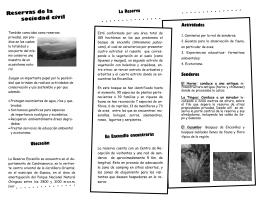 Vea más información en el folleto de la reserva de Encenillo