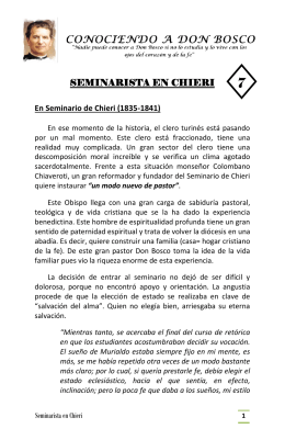 seminarista en chieri – folleto