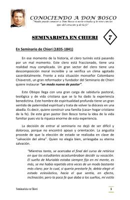 seminarista en chieri – folleto