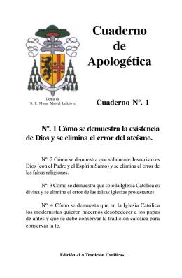 Cuaderno de Apologética