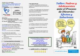 Taller: Padres y Adolescentes ante el Proceso de Divorcio