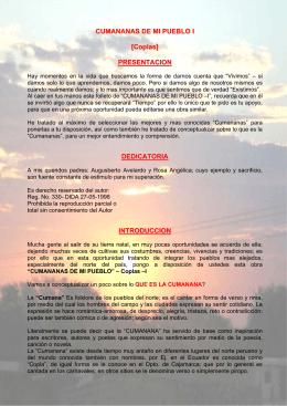 CUMANANAS DE MI PUEBLO I