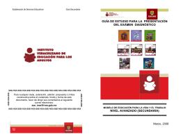 guía de estudio para la presentación del exámen diagnóstico nivel