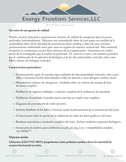 Energy Frontiers Services folleto promocional
