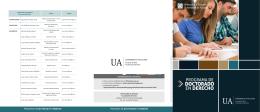 folleto informativo - Facultad de Derecho