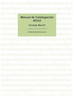 Manual de Catalogación RCA2
