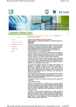 Página 1 de 5 Red Internacional de Bibliotecas Municipales 10/10