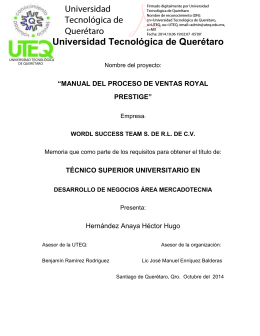 Universidad Tecnológica de Querétaro Universidad Tecnológica de