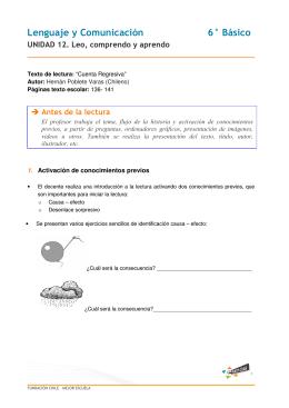 Lenguaje y Comunicación 6° Básico