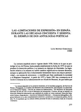 Las Limitaciones de Expresión en España - e-Spacio