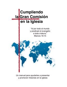 Manual Misionero - Instituto Biblíco Bautista Cd. Mante, Tamps.
