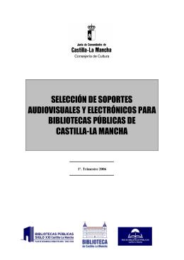 selección de soportes audiovisuales y electrónicos para bibliotecas