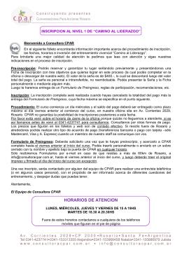 REGLAS DE PARTICIPACION