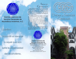 folleto osg - Central Mexicana de Servicios Generales de