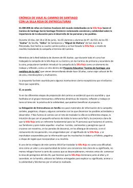 CRÓNICA DE VIAJE AL CAMINO DE SANTIAGO