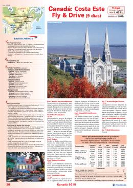 Canadá Costa Este Fly&Drive (9 días)