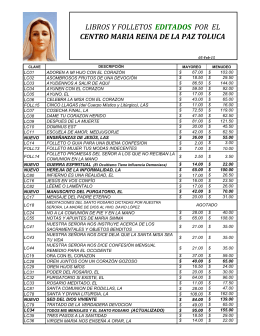 lista de precios imprime aqui - Maria Reina de la Paz Toluca