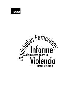 Informe de mujeres sobre violencia contra su sexe