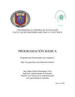 PROGRAMACIÓN BÁSICA - Universidad Autónoma de Nuevo León