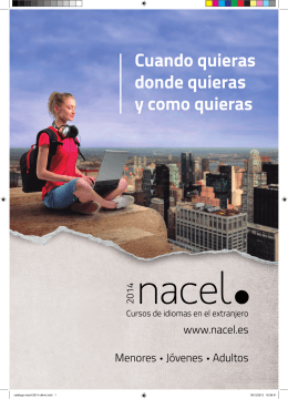 Catálogo de cursos de idiomas Nacel 2014