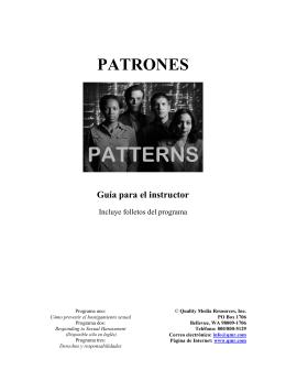 PATRONES - Qmr.com