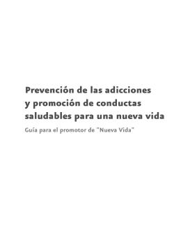 Prevención de las adicciones y promoción de conductas saludables