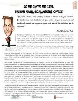 """30 de mayo de 1959. Muere Raul Scalabrini Ortiz """"El pueblo"""