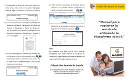 folleto matricula - Colegio San Ignacio de Loyola