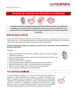 servicios de biometria