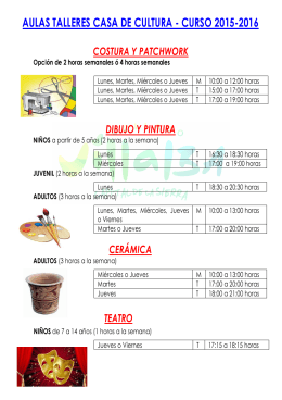 FOLLETO AULAS 2015-2016