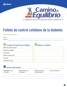 Folleto de control cotidiano de la diabetes