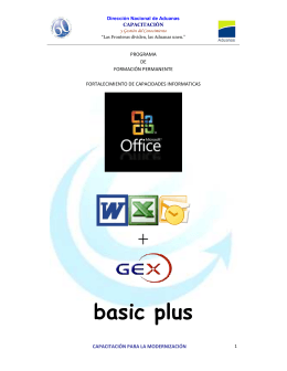 FOLLETO OFFICE basic plus - Dirección Nacional de Aduanas