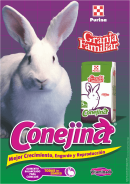 Conejina GF Folleto