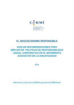 EL ASOCIACIONISMO RESPONSABLE GUÍA DE
