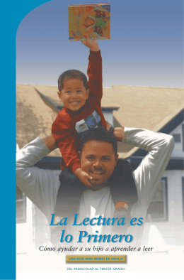 La Lectura es lo Primero, Spanish Parent Brochure