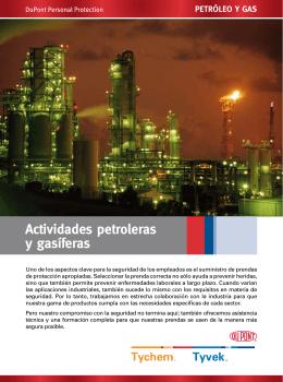 Actividades petroleras y gasíferas