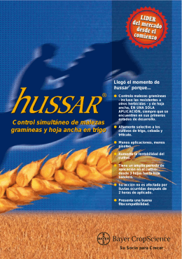 Folleto Hussar - Bayer CropScience Chile