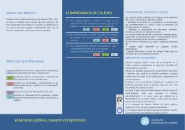 FOLLETO CARTA DE SERVICIOS SOM