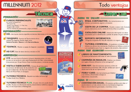 FOLLETO -millenniummmmmmm 2012