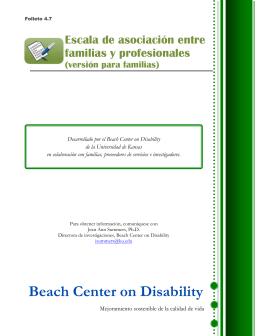 Folleto 4.7: Escala de asociación entre familias y profesionales