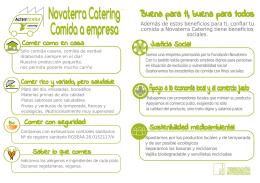 Novaterra Catering Comida a empresa Novaterra Catering Comida