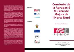 Folleto 1 - Federación de Sociedades Musicales de la Comunidad