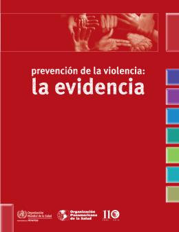 Prevención de la violencia - World Health Organization