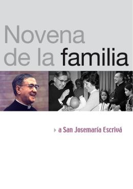 Novena a la Familia - Saint Josemaria Escriva: Founder of Opus Dei