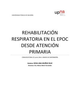 rehabilitación respiratoria en el epoc desde atención - Academica-e