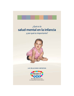 salud mental en la infancia - California Center for Infant